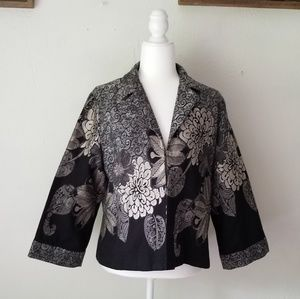 Jackets & Blazers - Chico's floral jacket size 2